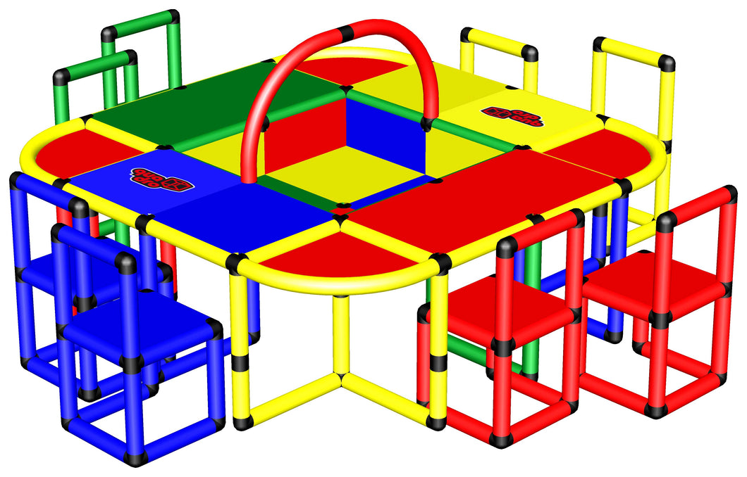 Play Table with 8 Chairs