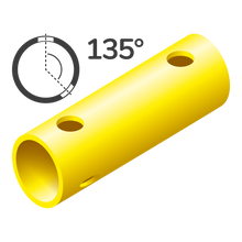 Load image into Gallery viewer, Tube 15 cm 135° (3 holes)