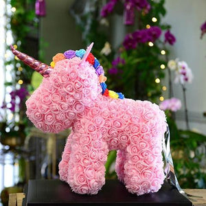 Luxury Artificial Foam Unicorn Rose Led - DogsandHome