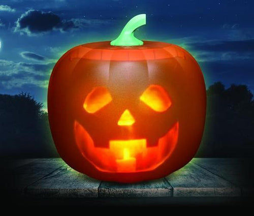 Animated Halloween Talking  Pumpkin with Built-In Projector & Speaker - DogsandHome