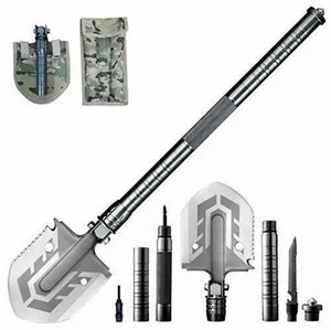 Tactical Survival Shovel -  Multi-Purpose Folding Shovel - DogsandHome