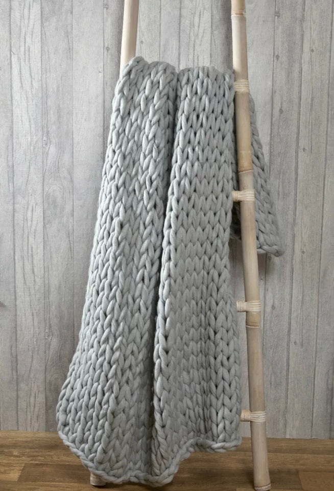 CHUNKY KNIT BLANKET - DogsandHome