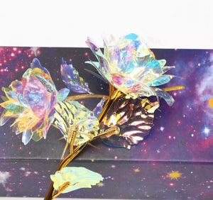 Gold Galaxy Rose Flower - DogsandHome