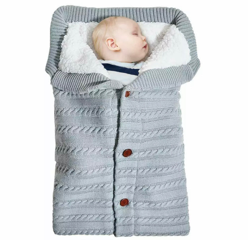 Newborn Baby Knit Sleeping Bag - DogsandHome