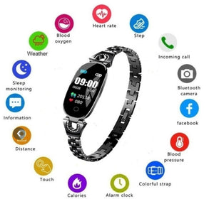 Bluetooth Smart Watch Fitness Bracelet Band For Android iOS UK - DogsandHome