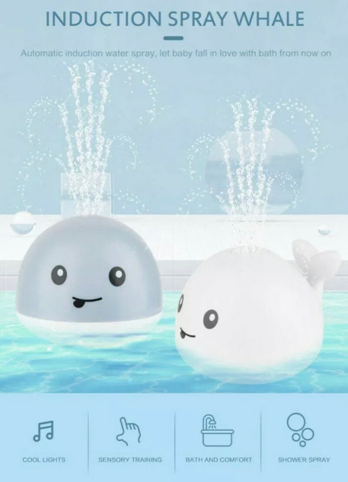 LED Electric Baby Bath Toy Whale - DogsandHome