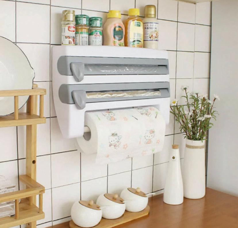 Multifunction Film Storage Rack Cutter for Kitchen - DogsandHome
