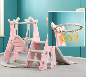 3 in 1 Toddler Climber Slide Swing Play Set - DogsandHome