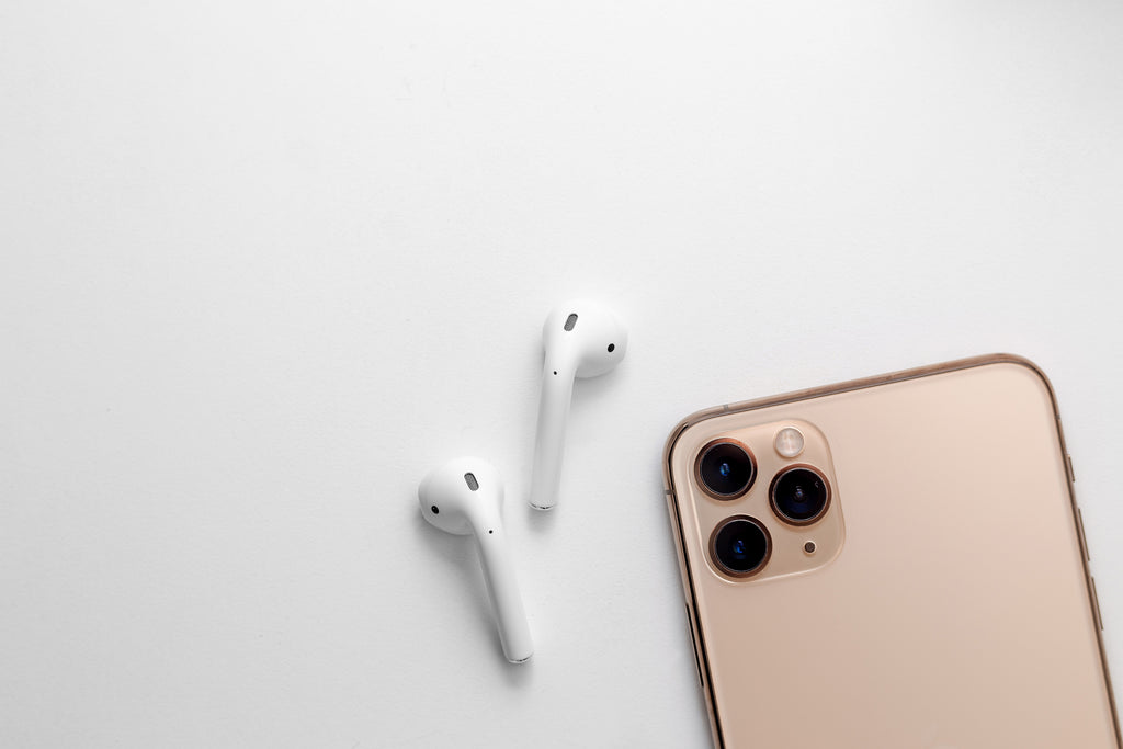 Apple airpods and gold iPhone 11 Frank Mobile Blog
