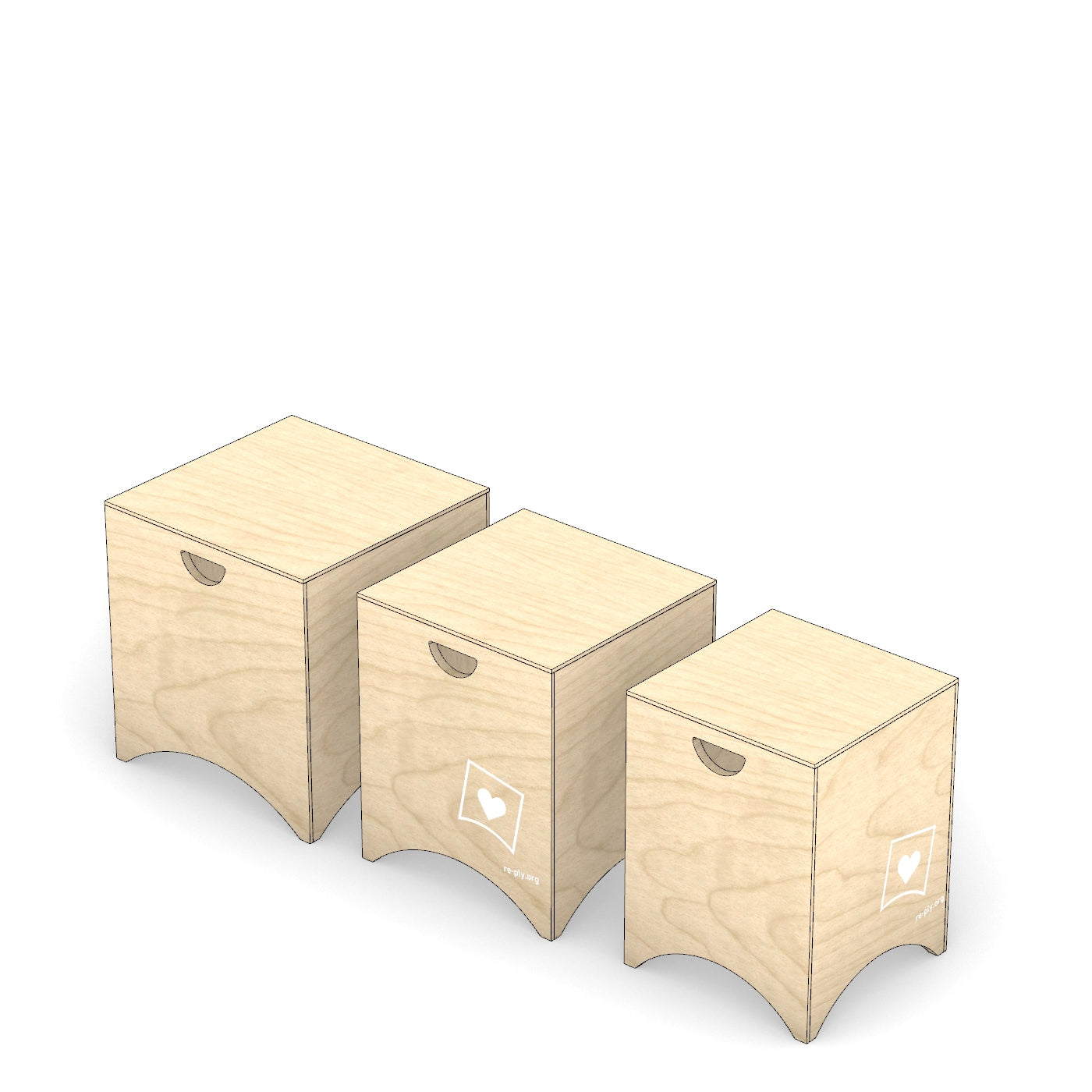 Stool - nesting (set of 3) - from $198