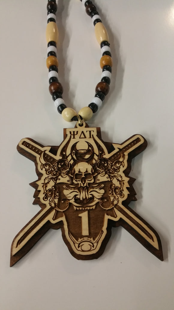 Psi Delta Tau - Wood  Samurai Number Tiki