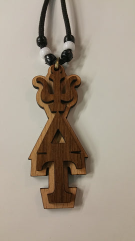 Psi Delta Tau - Wood Tiki with Letters