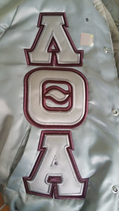 Lambda Theta Alpha - Satin Baseball Jacket