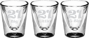 Sisters 21st Birthday 5122 Shot Glass