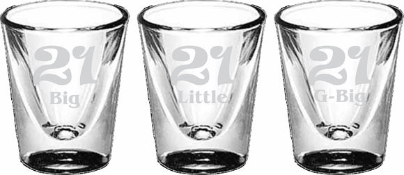 Sisters 21st Birthday - Shot Glass, Collectors - 5122