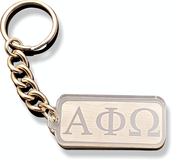 Alpha Phi Omega - Acrylic Keychain with Greek Letters - AFW-02-KEY-RCT