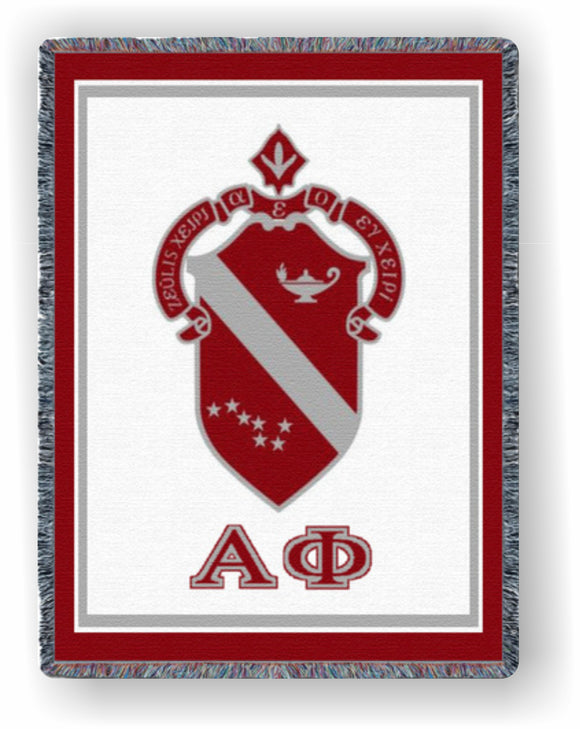 Alpha Phi – Afghan - Throw Blanket, AF8664-T; AF-5893-T