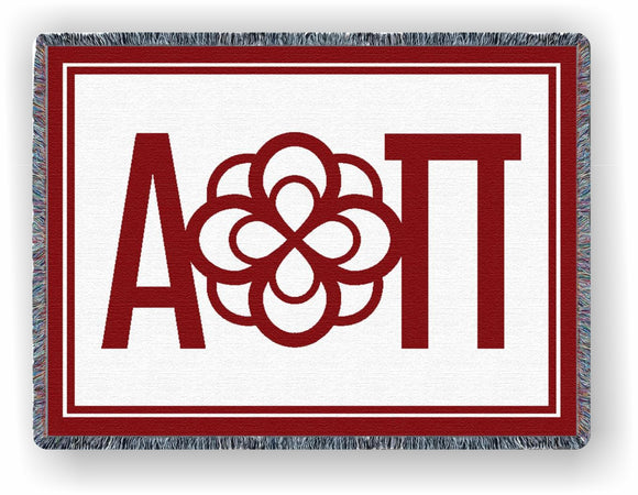 Alpha Omicron Pi – Afghan - Throw Blanket, AOP-8601-T; AOP-9022-T