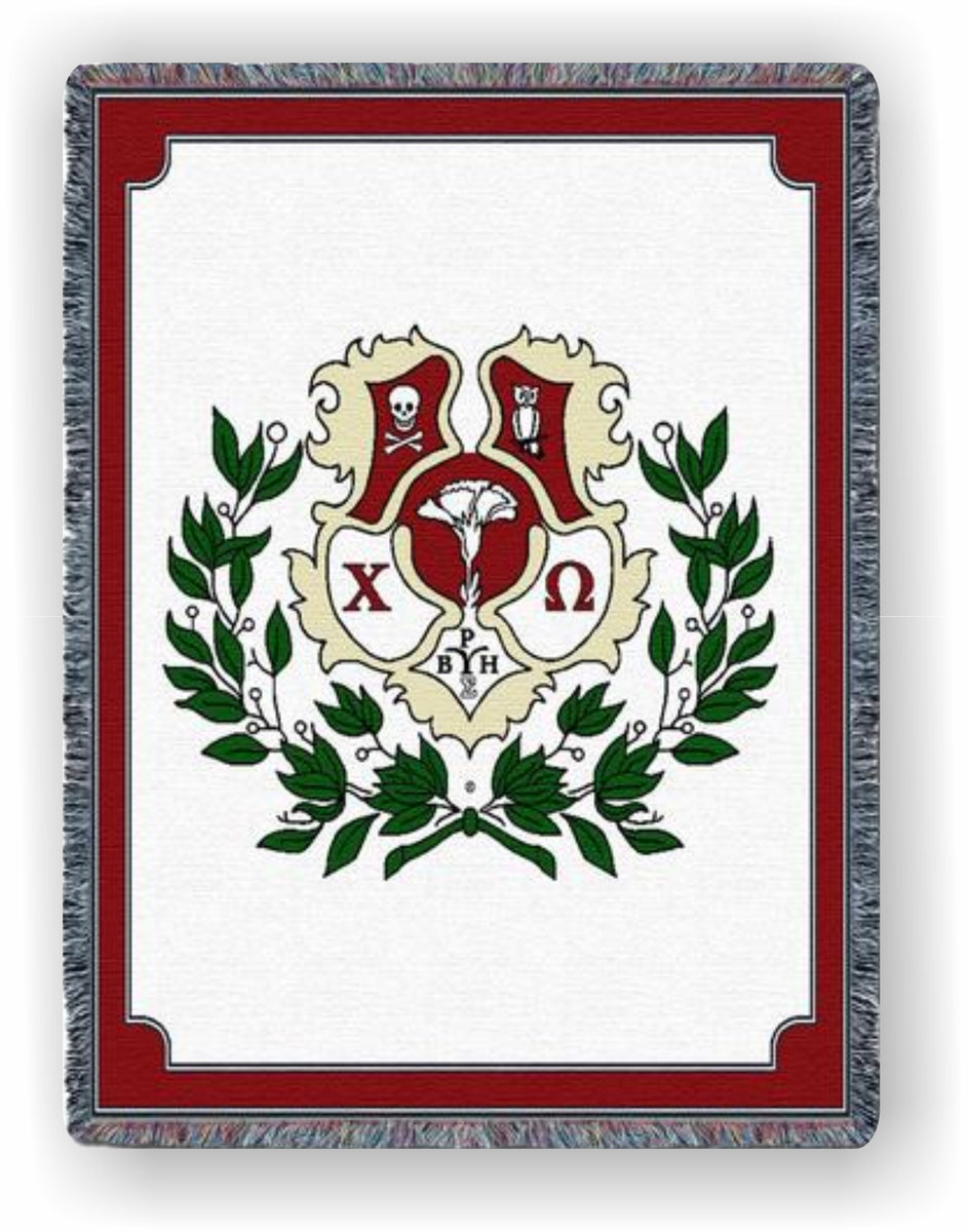 Chi Omega Afghan Throw Blanket Cw 5424 T Cw 8852 T Greek Apparel And Hobbies
