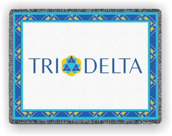 Delta Delta Delta – Afghan - Throw Blanket, DDD-5415-T