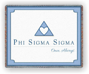 Phi Sigma Sigma – Afghan - Throw Blanket, FSS-9017-T