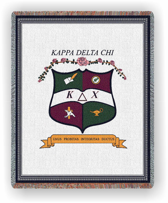 Kappa Delta Chi – Afghan - Throw Blanket, KDC-5604-T