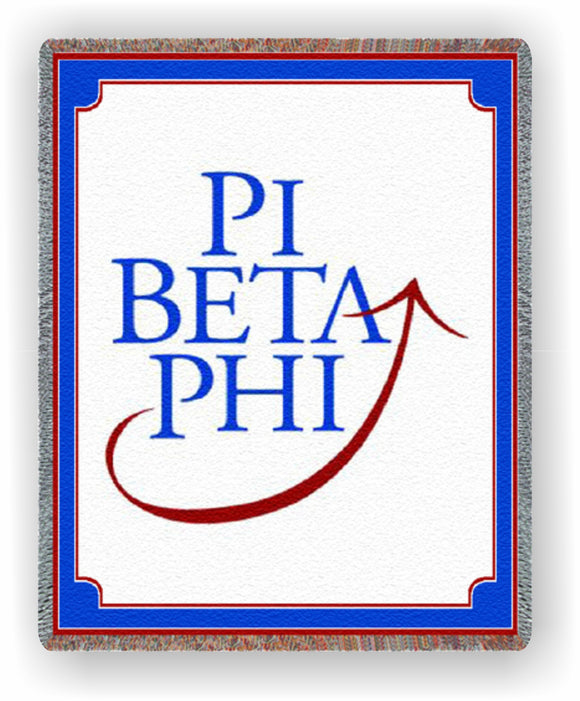 Pi Beta Phi – Afghan - Throw Blanket, PBF-8860-T; PBF-5478-T