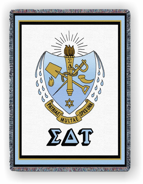 Sigma Delta Tau – Afghan - Throw Blanket, SDT-5488-T; SDT-8863-T