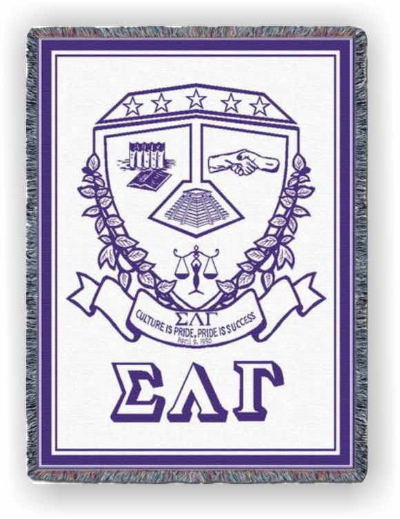 Sigma Lambda Gamma – Afghan - Throw Blanket, SLG-7396-T
