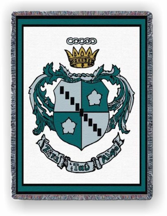 Zeta Tau Alpha – Afghan - Throw Blanket, ZTA-5510-T; ZTA-8862-T