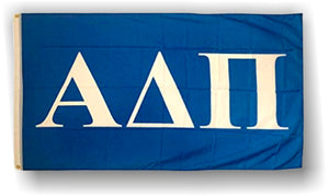 Alpha Delta Pi - 3'x5' Flag with White Letters on Blue