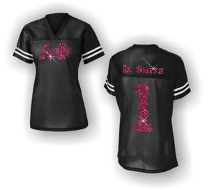 Alpha Phi - Football Jersey with Glitter