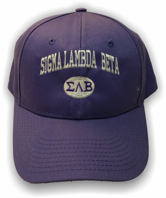 Sigma Lambda Beta – Baseball Cap, Embroidered, FLEXFIT 210® PREMIUM FITTED CAP