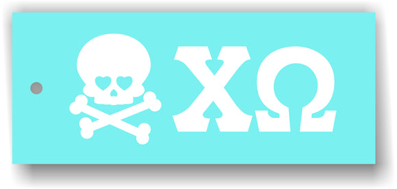 Chi Omega - Decal for Car or Decorating with Skull or Owl