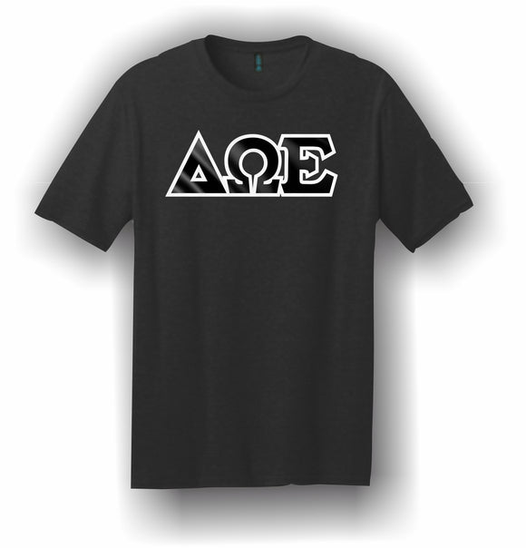 Delta Omega Epsilon-T-Shirt, Embroidered (Single Stitched)–5180 Hanes® Beefy-T®-100% Cotton T-Shirt