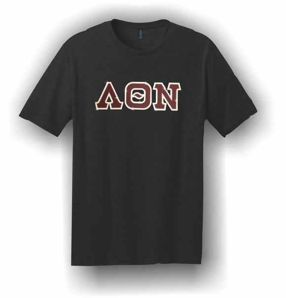 Lambda Theta Nu–T-Shirt, Embroidered (Single Stitched) –5180 Hanes® Beefy-T®;-100% Cotton T-Shirt-LQN-5180-SS