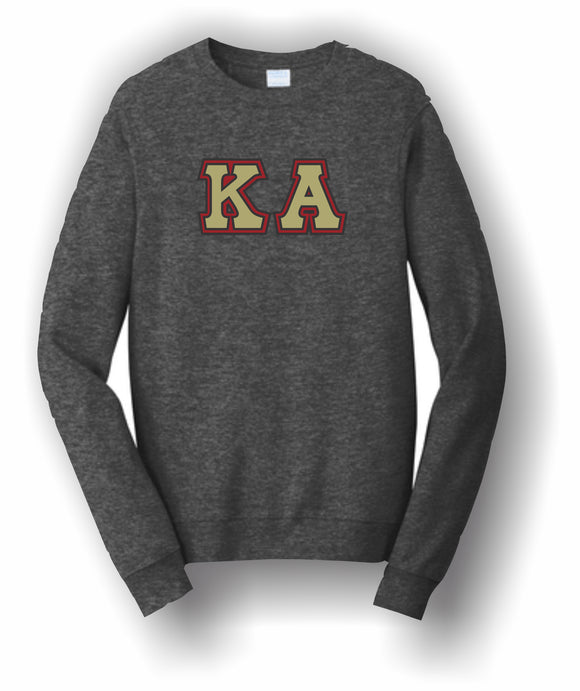 Kappa Alpha – Crewneck Sweatshirt, Embroidered – 4662M JERZEES® SUPER SWEATS®