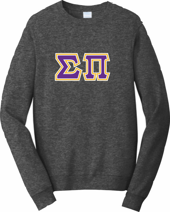 Sigma Pi – Crewneck Sweatshirt, Embroidered – 4662M JERZEES® SUPER SWEATS®