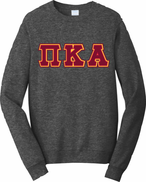 Pi Kappa Alpha – Crewneck Sweatshirt, Embroidered – 4662M JERZEES® SUPER SWEATS®