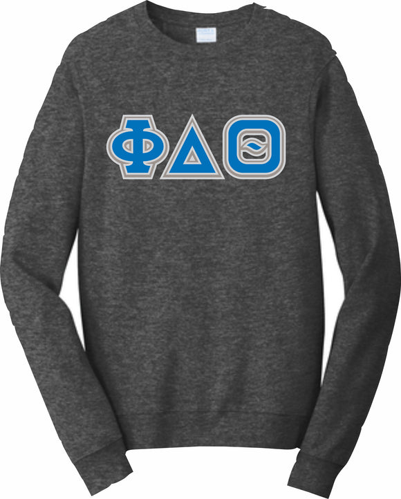 Phi Delta Theta – Crewneck Sweatshirt, Embroidered – 4662M JERZEES® SUPER SWEATS®