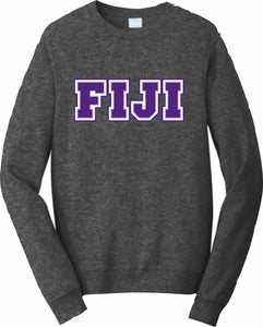 Phi Gamma Delta, FIJI – Crewneck Sweatshirt, Embroidered – 4662M JERZEES® SUPER SWEATS®