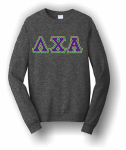 Lambda Chi Alpha – Crewneck Sweatshirt, Embroidered – 4662M JERZEES® SUPER SWEATS®