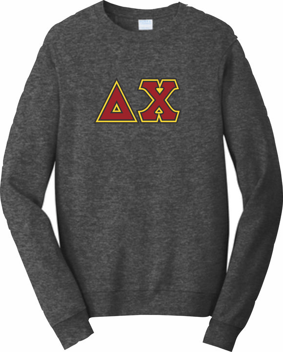 Delta Chi – Crewneck Sweatshirt, Embroidered – 4662M JERZEES® SUPER SWEATS®