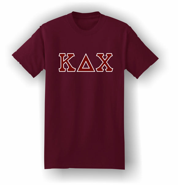 Kappa Delta Chi – T-Shirt, Embroidered (Single Stitched)  – 5180 Hanes® Beefy-T® - 100% Cotton T-Shirt