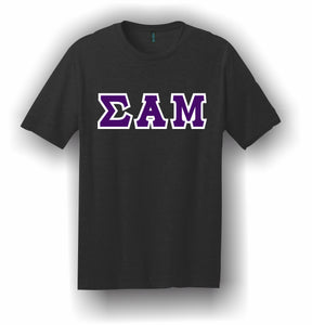 Sigma Alpha Mu – T-Shirt, Embroidered (Single Stitched) – 5180 Hanes® Beefy-T® - 100% Cotton T-Shirt