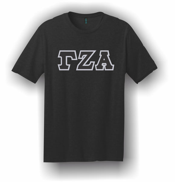 Gamma Zeta Alpha – T-Shirt, Embroidered (Single Stitched)  – 5180 Hanes® Beefy-T® - 100% Cotton T-Shirt
