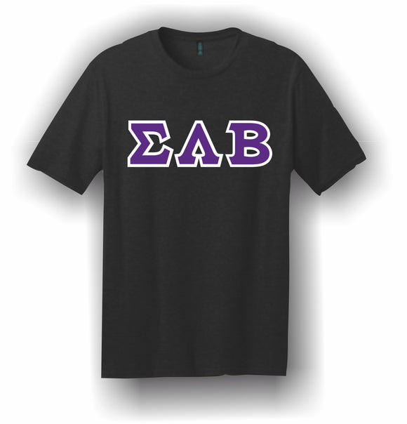 Sigma Lambda Beta – T-Shirt, Embroidered (Single Stitched) – 5180 Hanes® Beefy-T® - 100% Cotton T-Shirt