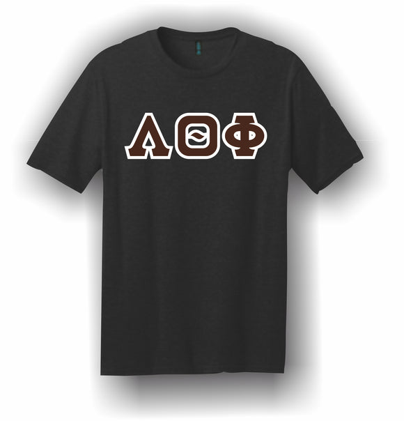 Lambda Theta Phi – T-Shirt, Embroidered (Single Stitched) – 5180 Hanes® Beefy-T® - 100% Cotton T-Shirt