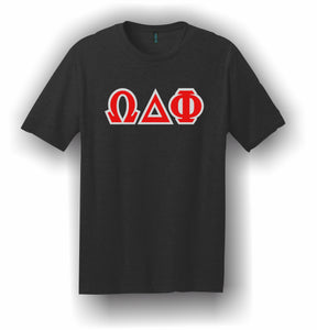 Omega Delta Phi – T-Shirt, Embroidered (Single Stitched) – 5180 Hanes® Beefy-T® - 100% Cotton T-Shirt