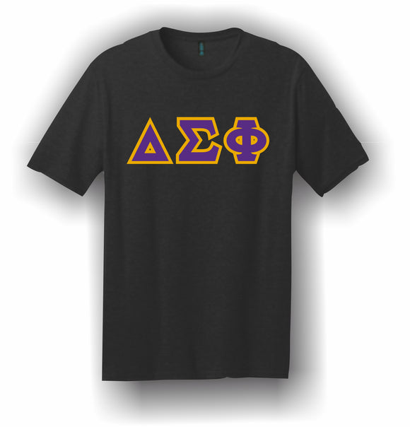 Delta Sigma Phi – T-Shirt, Embroidered (Single Stitched)  – 5180 Hanes® Beefy-T® - 100% Cotton T-Shirt